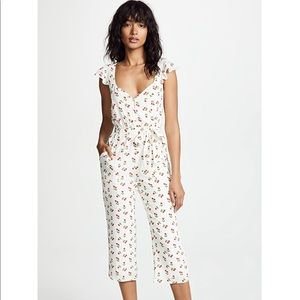 BNWT For Love And Lemons Cherry Jumpsuit